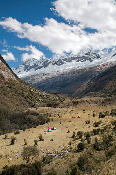 Camping In Huaripampa Valley Poster