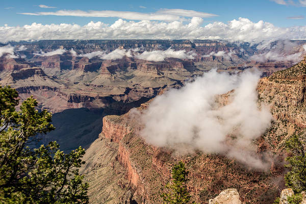 Clouds Lifting From Grand Canyon Poster
