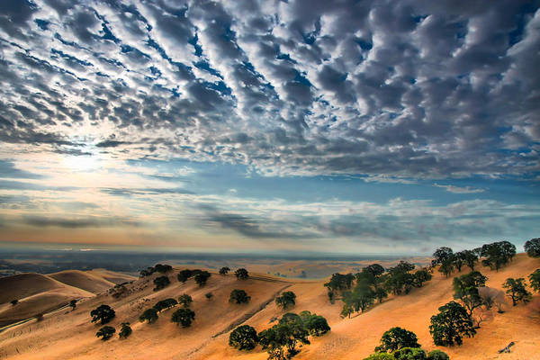 Clouds Over East Bay Hills Poster