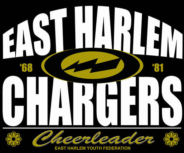 East Harlem Chargers Cheerleader Poster