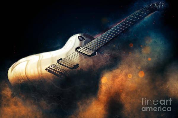 Electric Guitar Art Poster