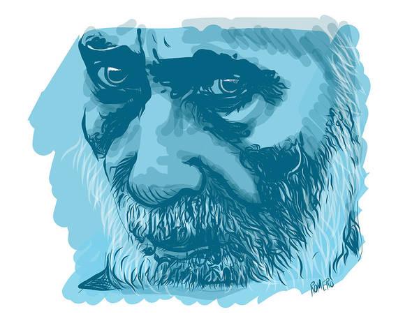 Poster featuring the digital art Eyes by Antonio Romero