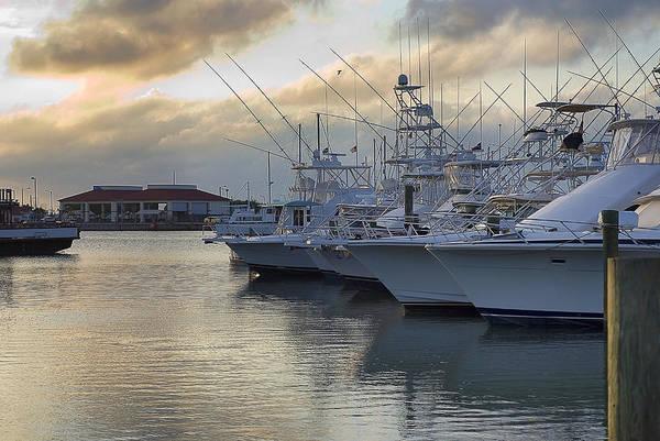 Fishing Yachts Poster