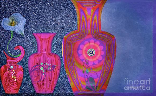 Poster featuring the digital art Flower Power by Eleni Mac Synodinos