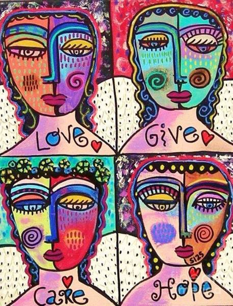 Four Gemstone Angels  Poster