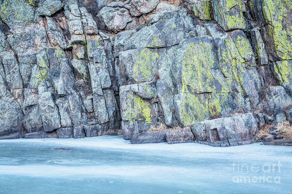 Frozen River And Rocky Cliff Poster