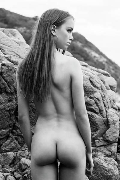 Girl On The Rocks Poster