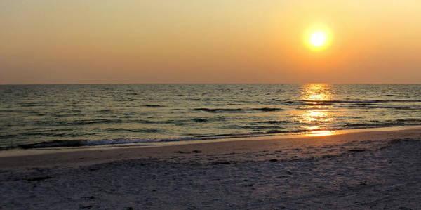 Golden Setting Sun Poster