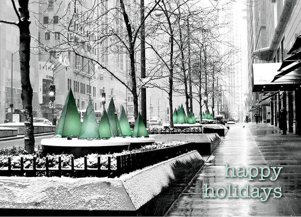 Happy Holidays From Chicago Poster