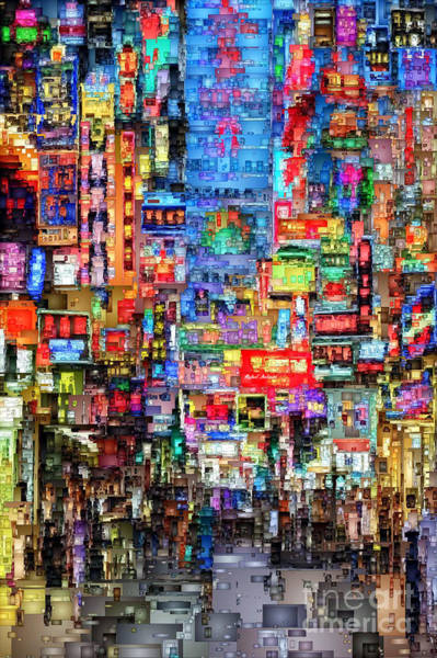 Hong Kong City Nightlife Poster