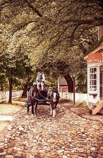 Horse Drawn Wagon Poster