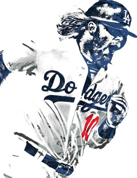 Justin Turner Los Angeles Dodgers Pixel Art Poster