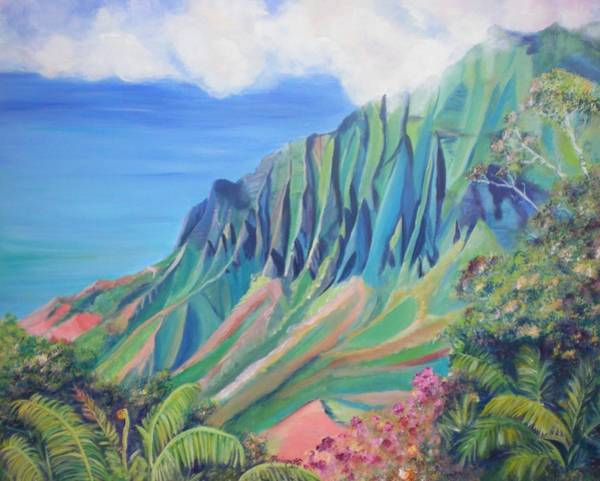 Kalalau Valley Poster
