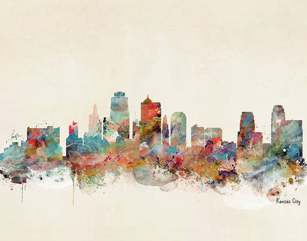 Kansas City Missouri Skyline Poster