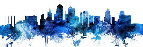 Kansas City Missouri Skyline Custom Panoramic Poster