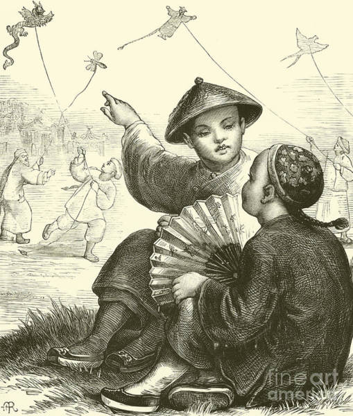 Kite Flying In China  Poster