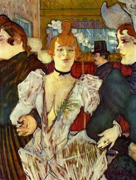 La Goulue Arriving At The Moulin Rouge With Two Women Poster