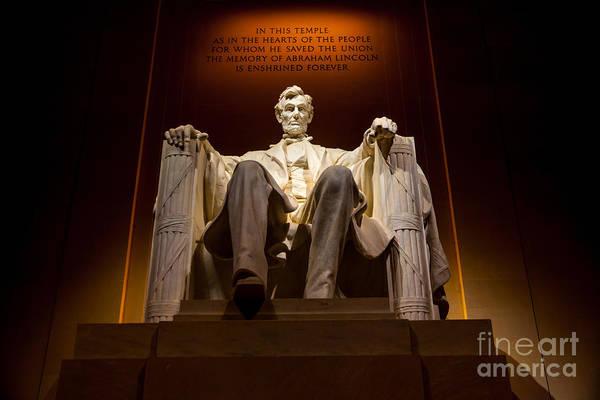 Lincoln Memorial At Night - Washington D.c. Poster