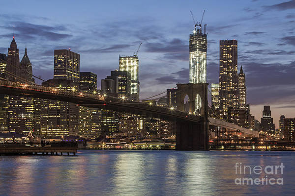 Poster featuring the photograph Manhattan Skyline New York by Juergen Held