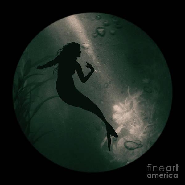 Mermaid Deep Underwater Poster