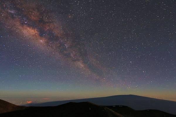 Milky Way Over Mauna Loa Poster