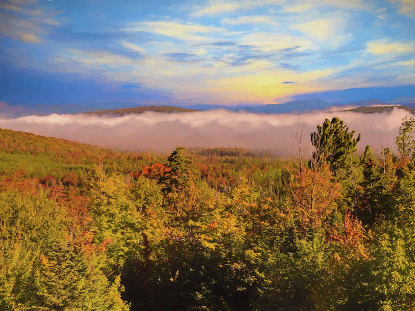 Morning Autumn Landscape Northern New Hampshire Poster