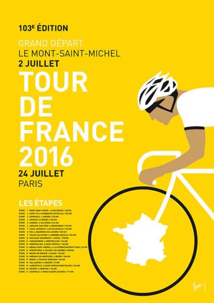 My Tour De France Minimal Poster 2016 Poster