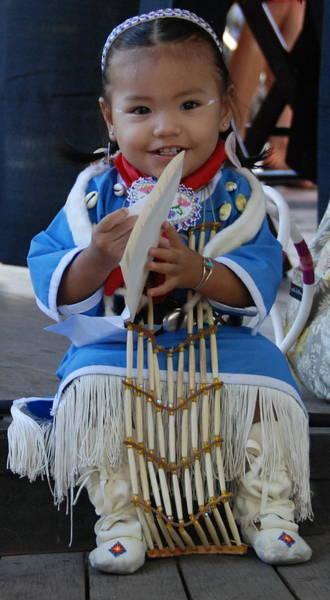 Native American Baby Girl Poster