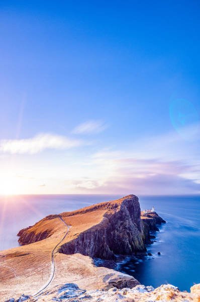 Neist Point Lighthouse At Dawn Poster