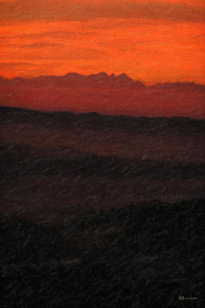 Not Quite Rothko - Blood Red Skies Poster