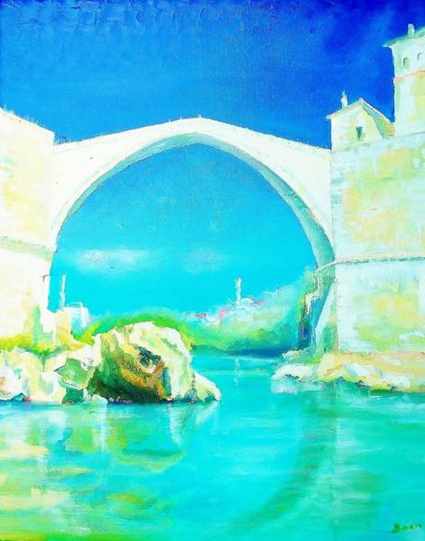 Old Bridge In Mostar 2 Poster