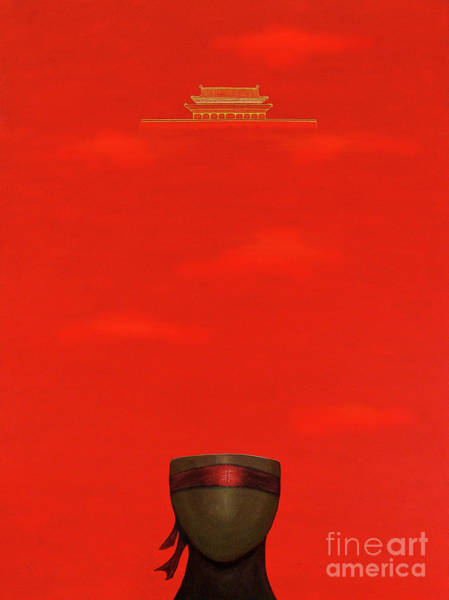 Red Impression Poster