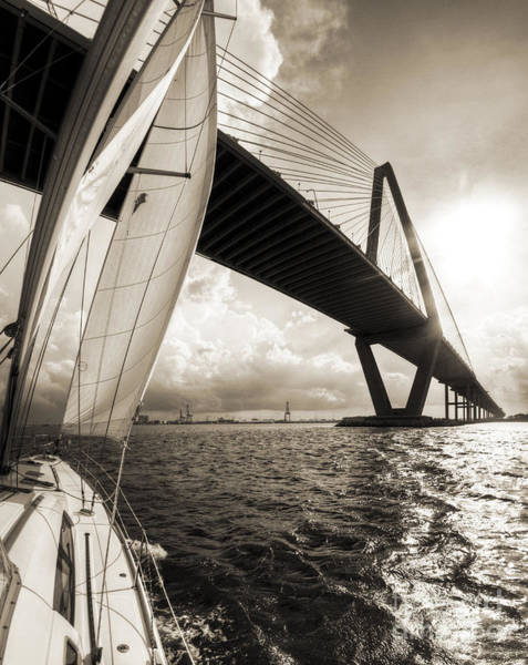 Sailing On The Charleston Harbor Beneteau Sailboat Poster