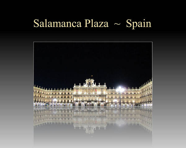 Salamanca Plaza Spain Poster