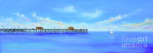 Poster featuring the painting San Clemente Pier by Mary Scott