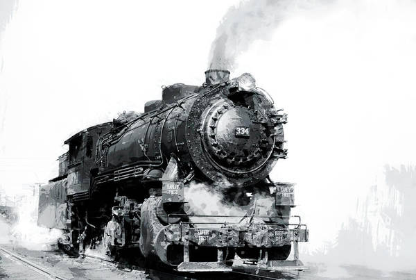 Steam Locomotive No. 334 Poster