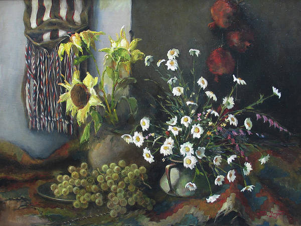 Still-life With Sunflowers Poster