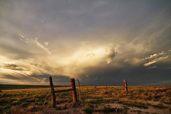 Sunset Near Santa Rosa New Mexico Poster