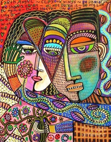 Talavera Garden Angel Lovers Poster