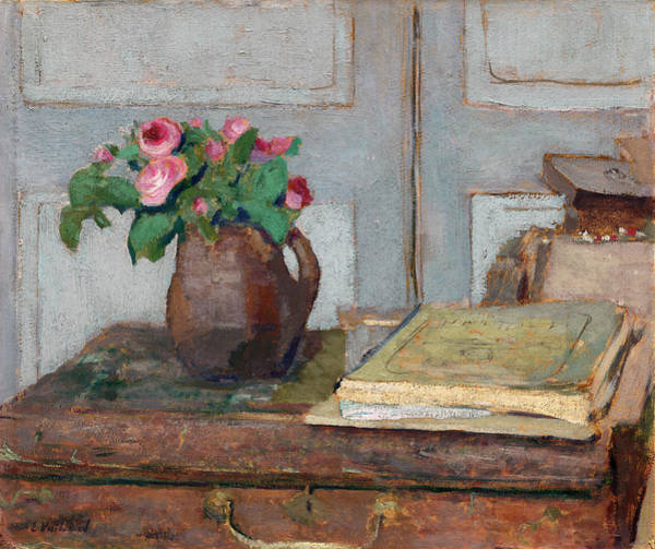 The Artist's Paint Box And Moss Roses Poster