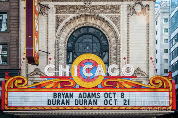 The Iconic Chicago Theater Sign Poster