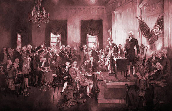 The Signing Of The Constitution Of The United States In 1787 Poster