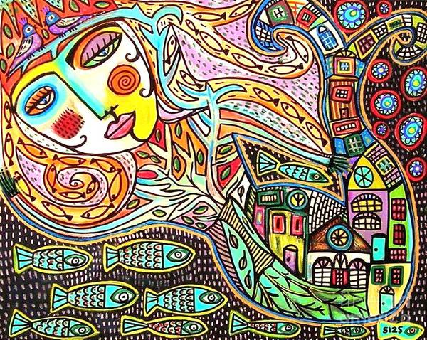 Tree Of Life Village Mermaid Poster