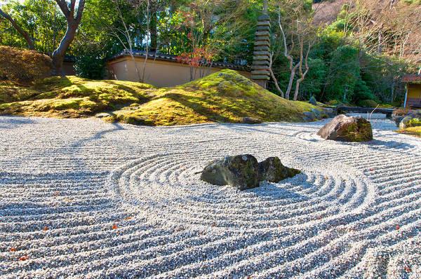 Zen Garden At A Sunny Morning Poster
