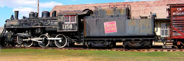 1158 Steam Train Poster