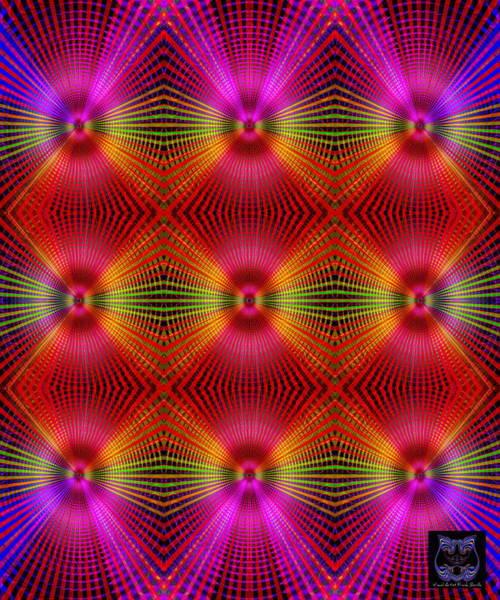 Poster featuring the digital art #122720154 by Visual Artist Frank Bonilla