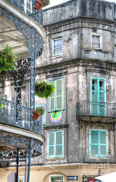 1358 French Quarter Balconies Poster