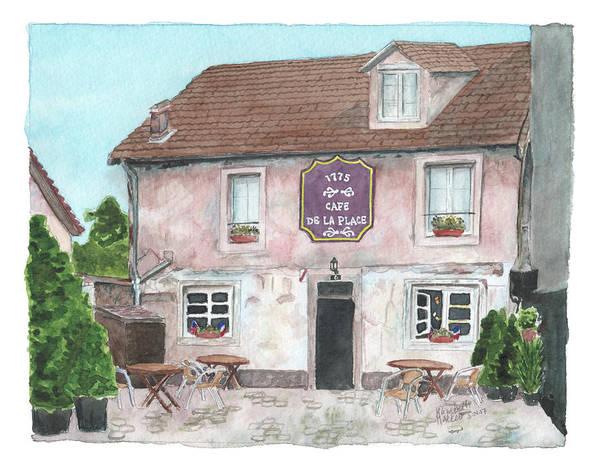 1775 Cafe De La Place Poster