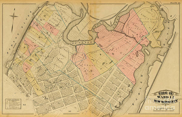 1879 Inwood Map  Poster