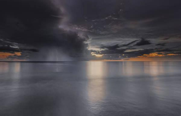 Sunst Over The Ocean Poster